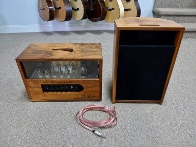 Humphrey Espresso 30 Single Channel Amplifier With Reverb and Barista Speaker, Walnut