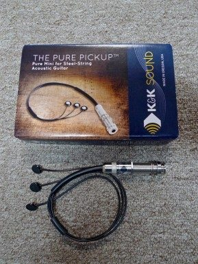 K&K Pure Mini Pickup for Steel String Acoustic Guitar - INSTALLED
