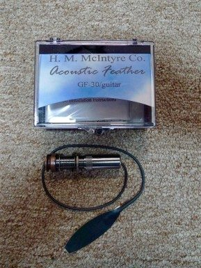 McIntyre GF-30 Feather Pickup for Steel String Acoustic Guitar - INSTALLED