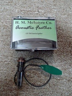 McIntyre GF-70 Feather Pickup for Classical Guitar - INSTALLED