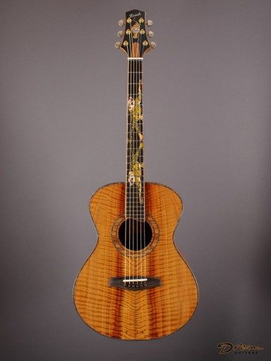 2002 Leach Cremona, Figured Koa/Giant Sequoia Redwood