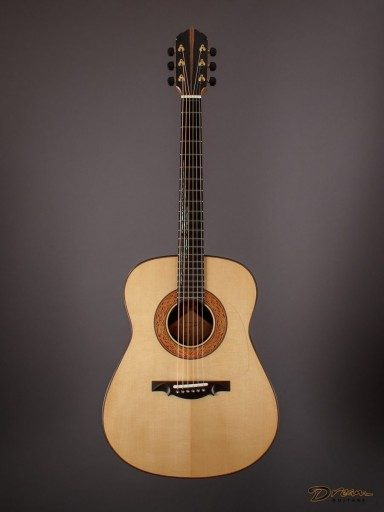 2017 Somogyi Diospyros Modified Dreadnought, Ebony/European Spruce