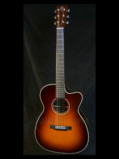 2004 Borges OM-28 Sunburst Indian/Adirondack Red