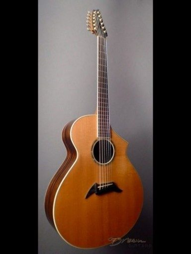 1999 Breedlove MJ22/E 12 String Guitar Ebony/Sitka