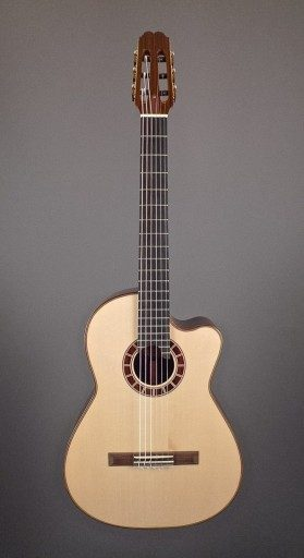 Cervantes Crossover 1 Nylon Hybrid Crossover, Indian Rosewood/Spruce