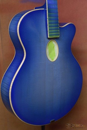 Incoming Tad Brown True Blue Acoustic Archtop, Sugar Maple/Adirondack Spruce
