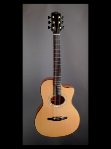 2006 Victor Guitars EVD Model 2 Flamed Koa/Italian