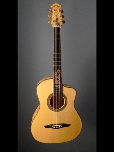 2010 Petros Yellow Rose FS Cutaway Ceylon Satinwood/Engelmann