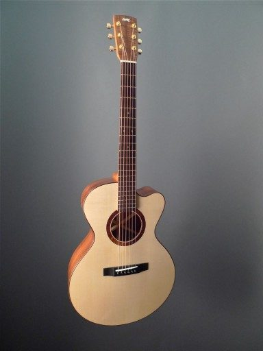 Running Dog Guitars (Rick Davis) Mini Jumbo Acoustic Guitar