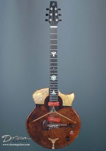 Spalt Instruments The Nouveau Series Tiffany Scarab Electric Guitar
