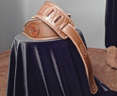 Levy's Garment Leather Guitar Strap (Brown) M17SS-BRN