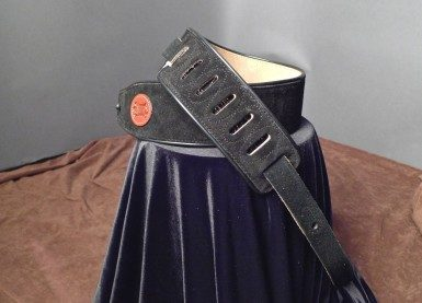 Levy's Suede Guitar Strap (Black) MSS3-BLK