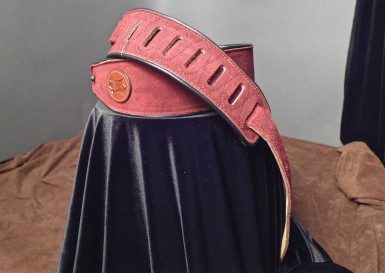 Levy's Suede Guitar Strap (Burgundy) MSS3-BRG