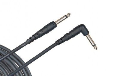 """Planet Waves PW-CGTRA-20 Classic Series Cable 1/4"""" Tip/Sleeve Straight/Right Angle"""