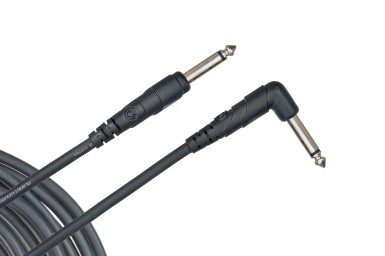 """Planet Waves PW-CGTRA-10 Classic Series Cable 1/4"""" Tip/Sleeve Straight/Right Angle"""