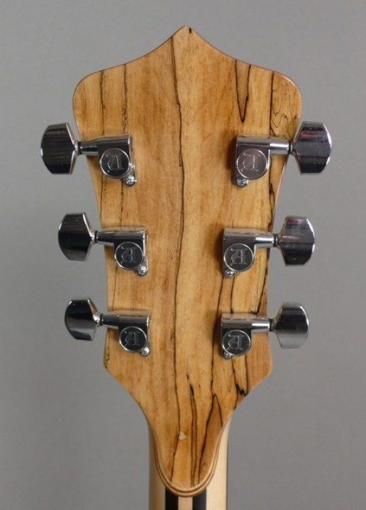 Chrome Tuners on Spalted Maple Backplate