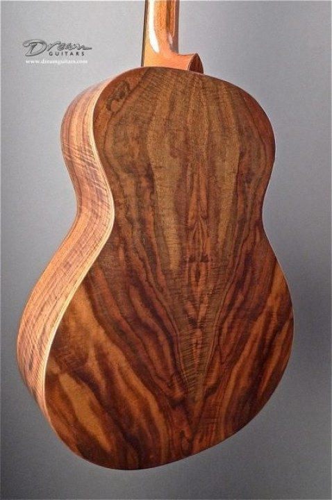 Flamed Claro Walnut Back and Sides