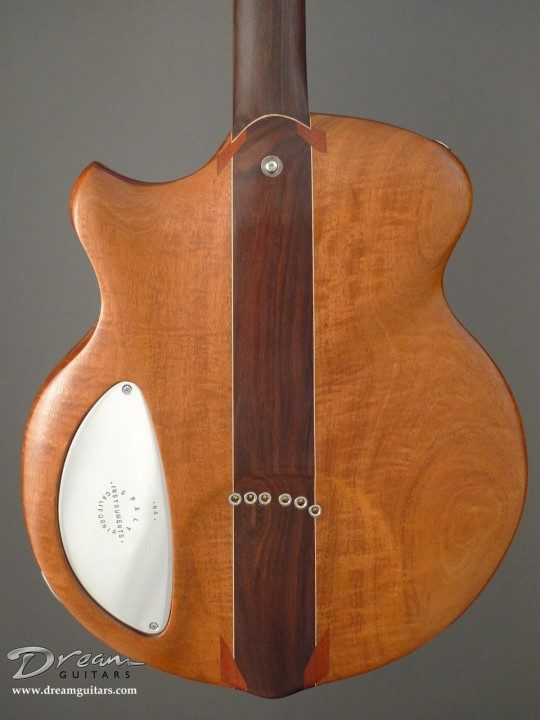 Mahogany Back and Sides, Rosewood Center, Metal Control Panel