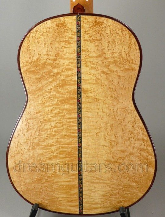 Maple w/rare burl, birdseye & flame figuration Back and Sides