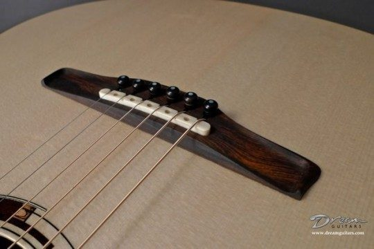 Hand Carved Brazilian Rosewood Bridge