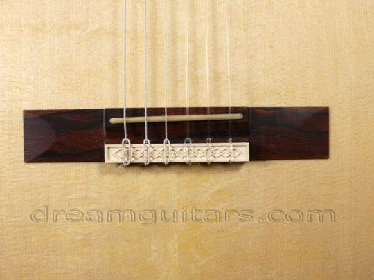 Brazilian with Carved Ivory Accent Bridge