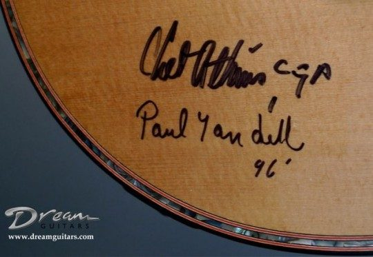 Signed by Chet Atkins and Paul Yandell
