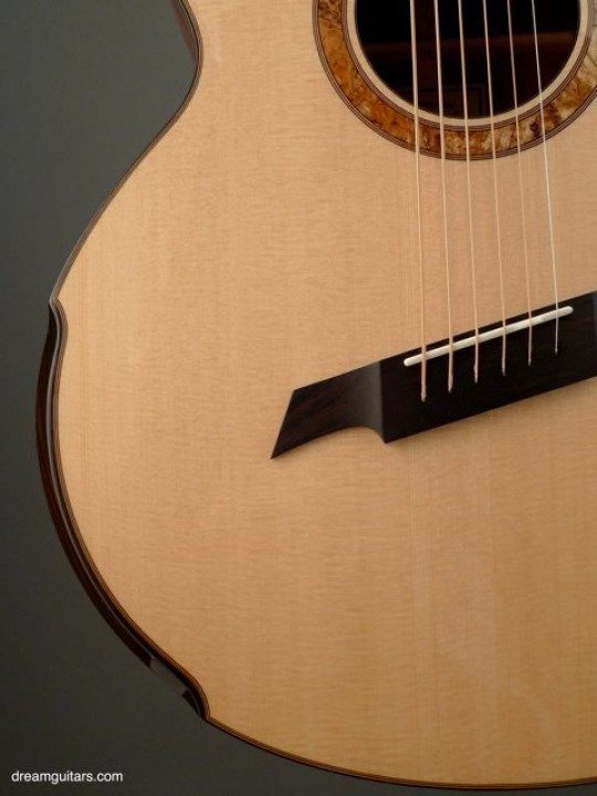 Macassar Ebony String Through Bridge