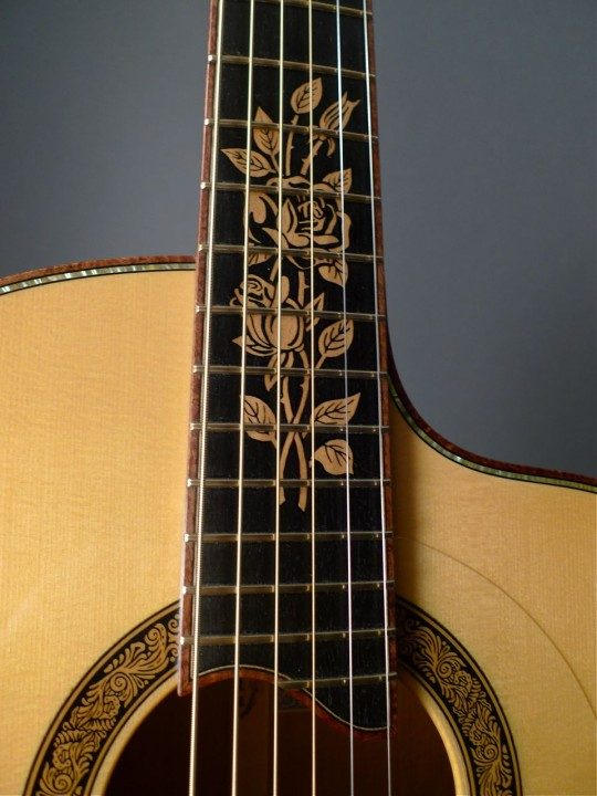 Carved Rose Inlay