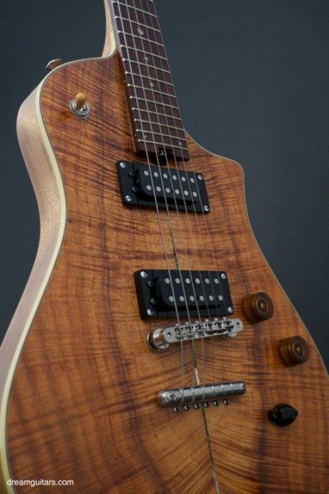 Flamed Koa Top, Dual Humbuckers