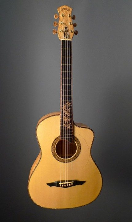 Petros Yellow Rose FS Cutaway Acoustic Guitar