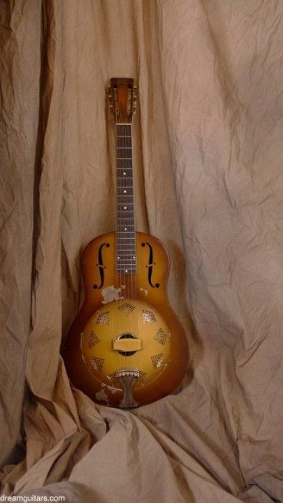 National Reso-Phonic Triolian Brass Body Acoustic Guitar