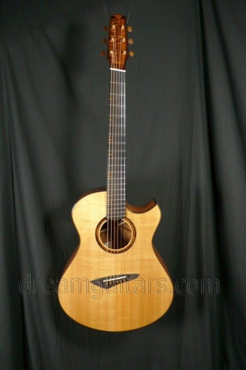 Bashkin Guitars OM Placencia Fanfret Acoustic Guitar