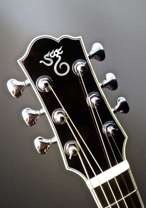 Mahogany Headplate Builder Logo Inlay