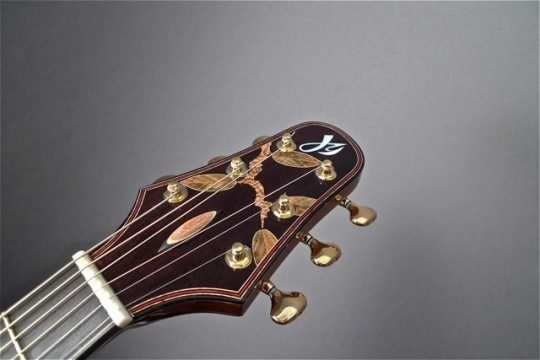Ebony Headplate Builder Logo With Custom Inlay Inlay