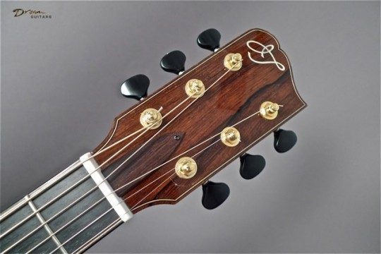 Madagascar Rosewood Headplate Builder Logo Inlay