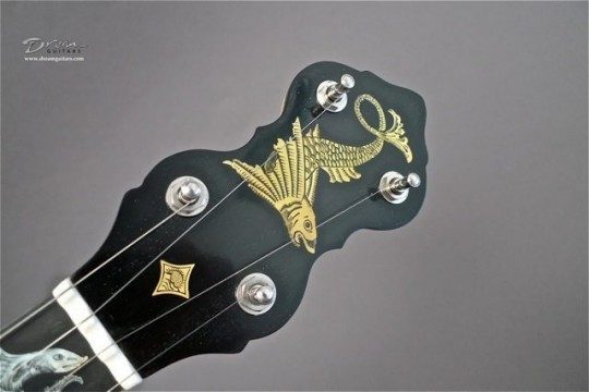 Ebony Headplate Fish Theme Inlay
