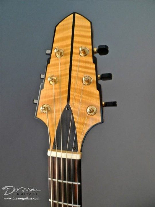 Maple with Ebony strip Headplate None Inlay