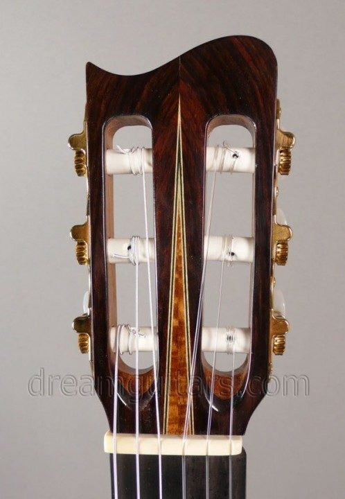 Full size headstock with Rosewood headplate