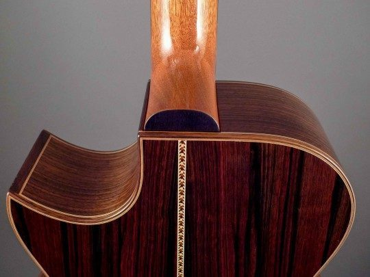 Indian Rosewood with Maple and Nigerian Rosewood purfling Bindings