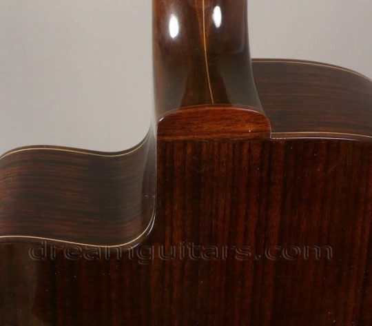 Walnut Neck Blends Into Rosewood