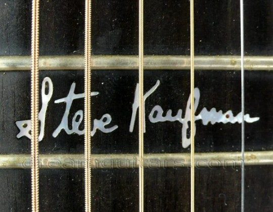 Diamonds and Signature on 12th fret Inlay