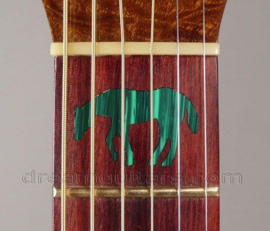 Malachite Lame Horse Inlay on First Fret