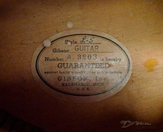 Gibson L-5 Archtop Guitar
