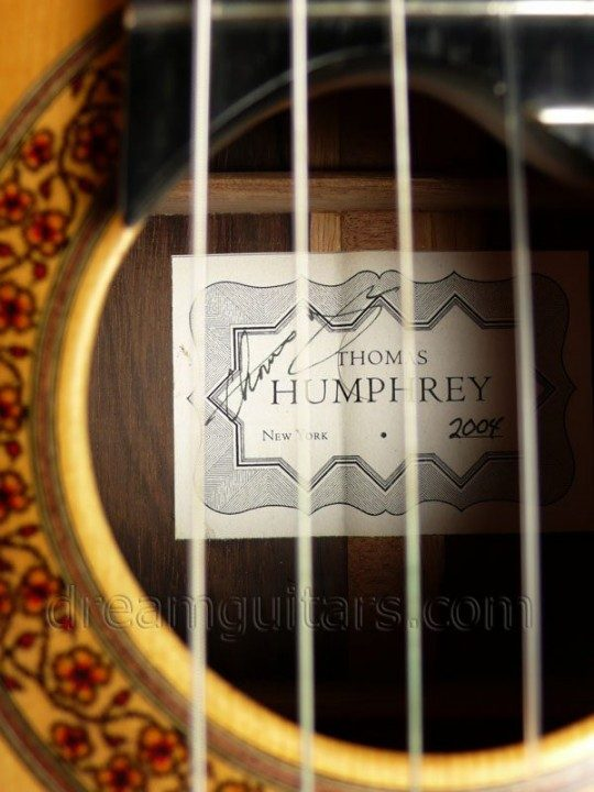 Label Signed by Thomas Humphrey
