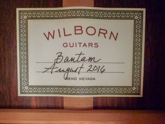 Wilborn Guitars Bantam Acoustic Guitar