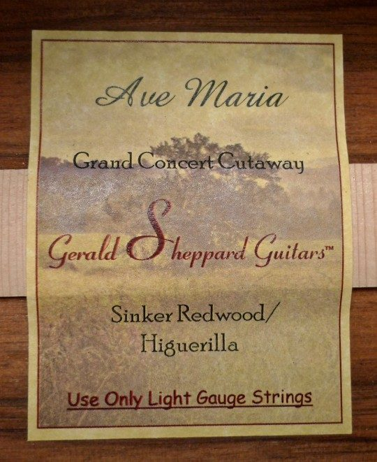 Sheppard Ave Maria Grand Concert Acoustic Guitar