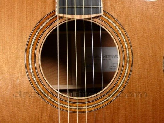 Figured Mahogany Rosette with Curly Maple Soundhole Insert