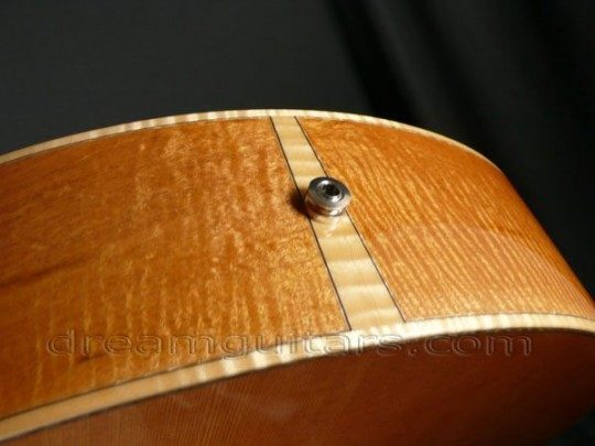 Curly Maple Buttwedge, K&K Pure Western Pickup