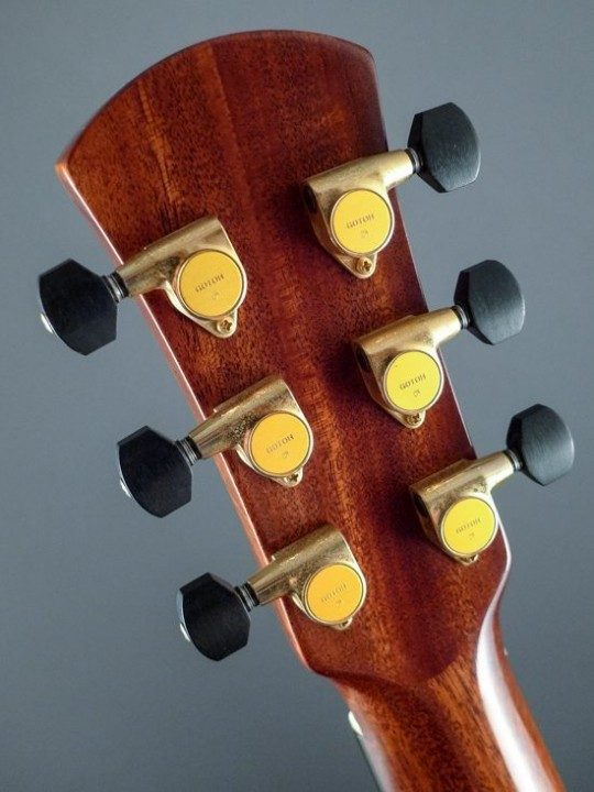 Gotoh Gold Tuners With Ebony Buttons