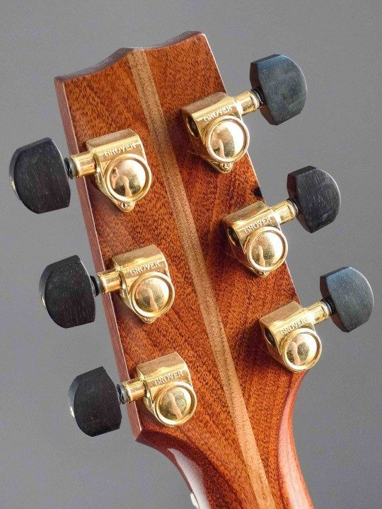 Grover Gold Tuners With Ebony Buttons